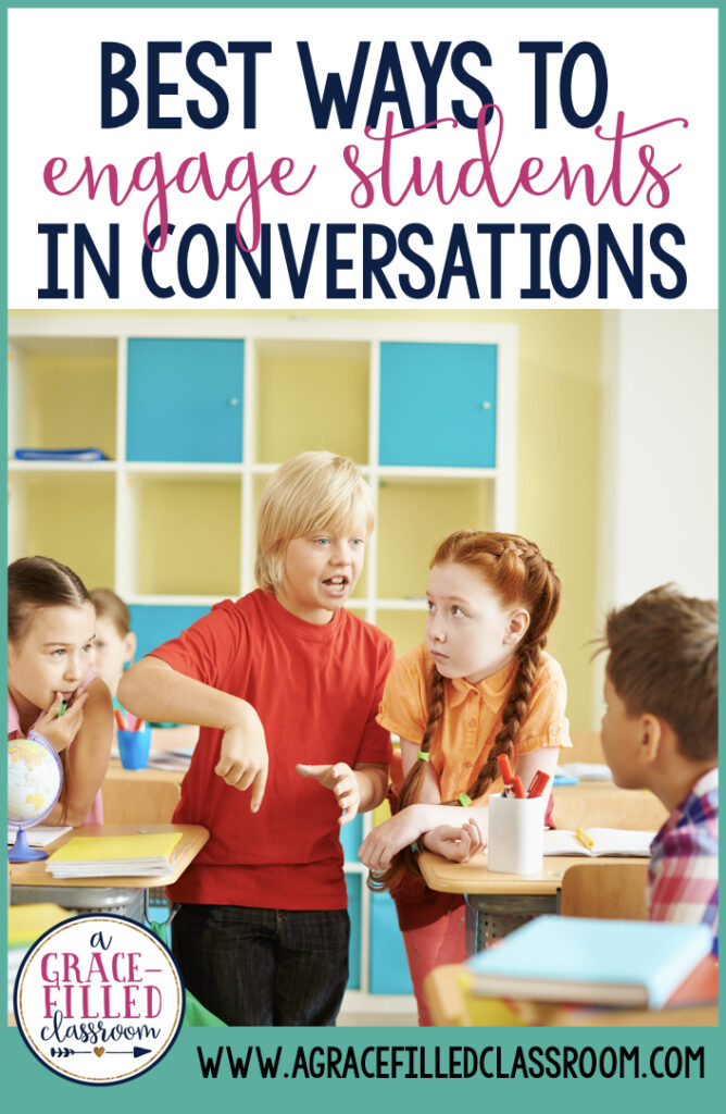 Do you struggle with keeping students engaged? Use these ideas to encourage conversations and keep students engagement high!